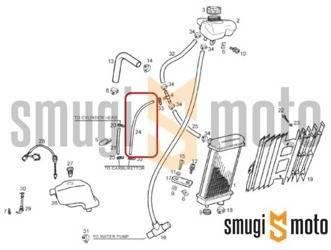 Przewód podgrzewania gaźnika (od strony chłodnicy), Derbi RCR 50 '11