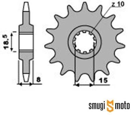 Zębatka przednia PBR [415], Minarelli AM3/5, 10 klinów (różne rozmiary)