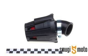 Filtr powietrza tuning stożkowy, czerwona gąbka, z osłoną, kolanko 45° (różne rozmiary)