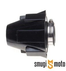 Filtr powietrza tuning stożkowy w obudowie, 42mm, czarny, prosty