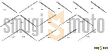 Iglica gaźnika Dellorto PHBD / PHBG / PHVB (różne rozmiary)
