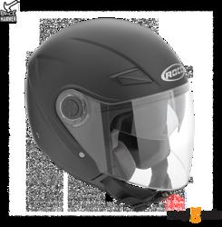Kask motocyklowy ROCC 230 czarny mat z blendą przeciwsłoneczną (rózne rozmiary)