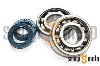 Łożyska wału i uszczelniacze SMG Sport, Peugeot leżący (SKF + Corteco)