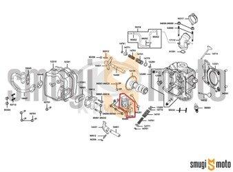Mocowanie / podpora wałka rozrządu, Kymco B&W 125 LC '06-08 / New Dink 200 '07-14, Malaguti F18 125-150cc