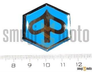 Naklejka (emblemat) Piaggio 3D, niebiesko srebrna