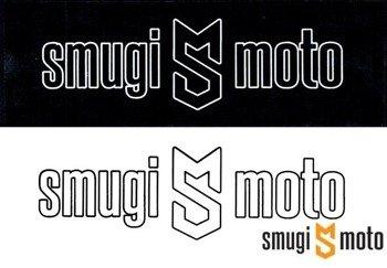 Naklejka z logo SMUGI-MOTO, kontur, 89x30mm (różne kolory)