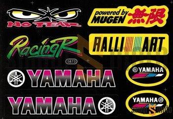 Naklejki tuningowe (zestaw) typ Yamaha