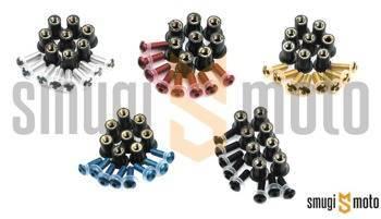 Śruby do owiewek Oxford M5x15 z gumowaną nakrętką rozpierającą kpl. 8 szt.(różne kolory)