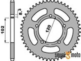 Zębatka tylna PBR [420] 47z, Aprilia RS 50 '99-05 (5 śrub)