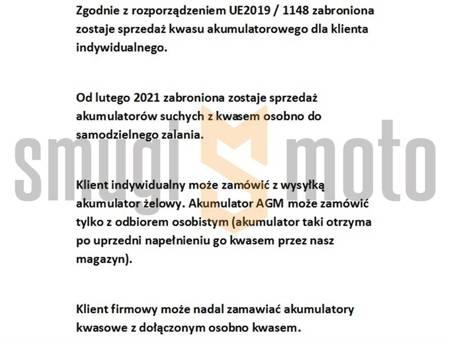 Akumulator Landport żelowy 12V 20Ah 175x86x154 (bezobsługowy)