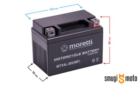 Akumulator Moretti YTX4L-BS AGM (żelowy)