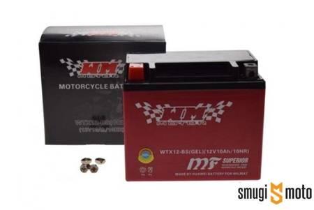 Akumulator WM YTX12-BS, 12V 10AH 150x87x130 (zalany) + kaucja za stary akumulator