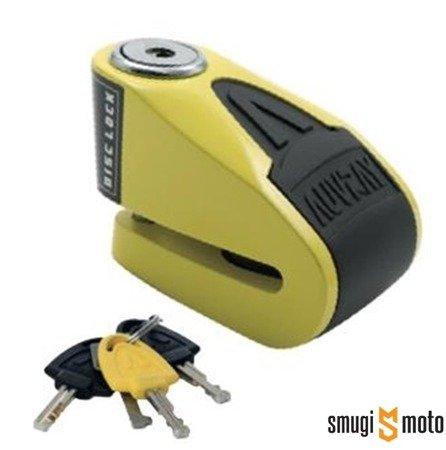Blokada Auvray, na tarczę z alarmem  B-LOCK 06 - żółto-czarna, średnica bolca 6mm