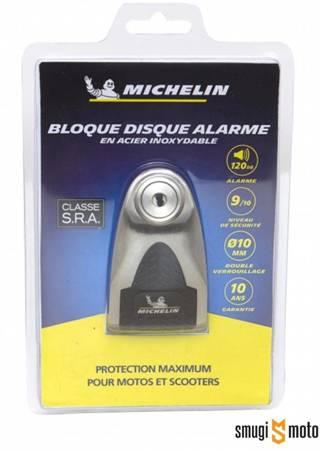 Blokada Michelin, na tarczę z alarmem stal nierdzewna / czarna, średnica bolca 6mm (klasa S.R.A.)