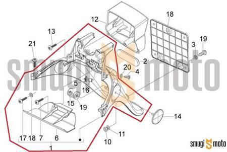 Błotnik tylny, Piaggio FLY 50-150 '07-12 / Derbi Boulevard 50-125 '08-14