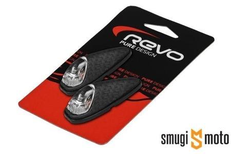 Kierunkowskazy Revo Custom, białe szkło (różne kolory)