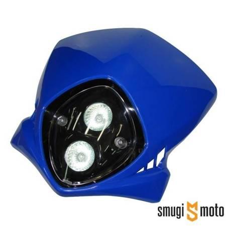 Lampa przednia tuning, niebieska, 2 lampy