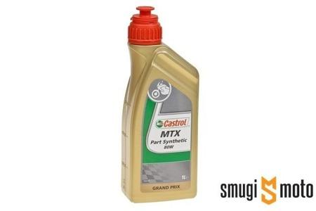 Olej przekładniowy Castrol MTX Part Synthetic 80W, 1 litr (100% syntetyk)