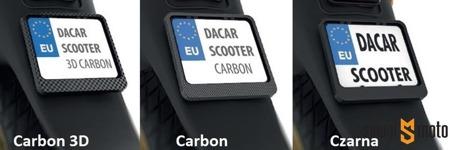 Ramka tablicy rejestacyjnej (motorower) (różne kolory)
