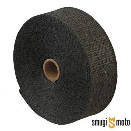 Taśma termiczna (bandaż) do wydechów 5m, czarna, 1200° + 5 opasek