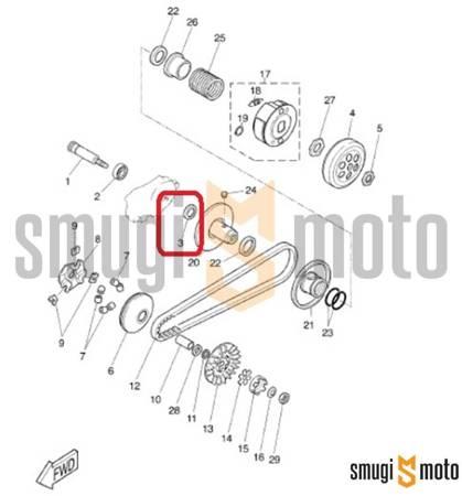 Uszczelniaczacz wałka sprzęgła 17x28x5,5 mm, Minarelli