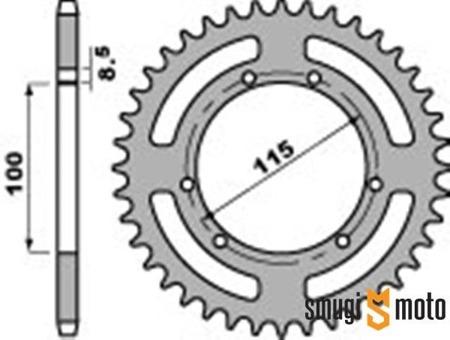 Zębatka tylna PBR [420] Gilera GSM / H@K / R / RK (100mm / 115mm) (różne rozmiary)